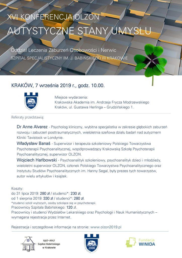 Autystyczne stany umysłu - XVI Konferencja OLZON w Krakowie